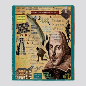 Shakespeare Throw Blanket