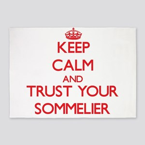 Keep Calm and trust your Sommelier 5'x7'Area Rug