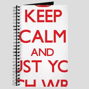Keep Calm and trust your Speech Writer Journal