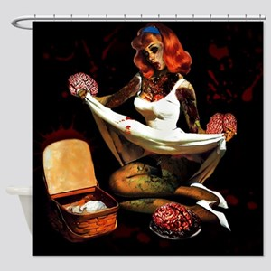 Zombie Pin Ups Shower Curtain