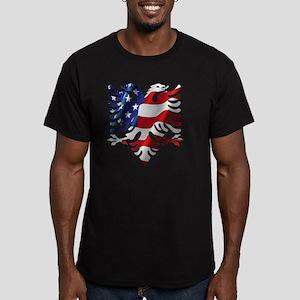 Albanian American Eagl Men's Fitted T-Shirt (dark)