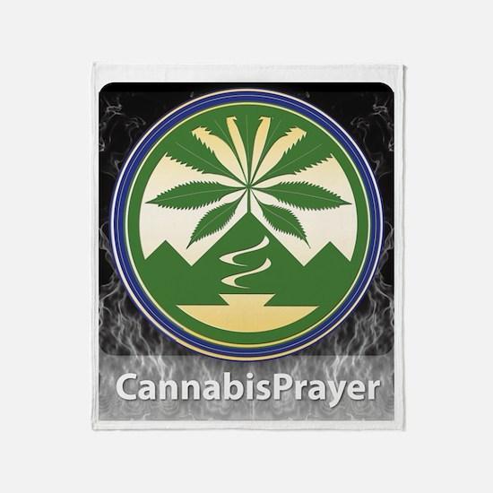 Cannabis Prayer Throw Blanket