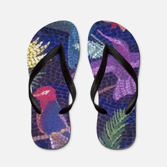 Hummingbird Mosaic Flip Flops