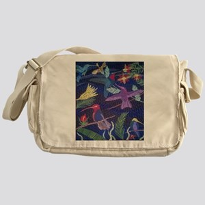 Hummingbird Mosaic Messenger Bag