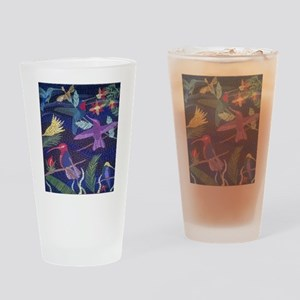 Hummingbird Mosaic Drinking Glass
