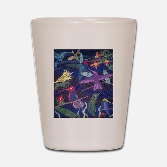 Hummingbird Mosaic Shot Glass
