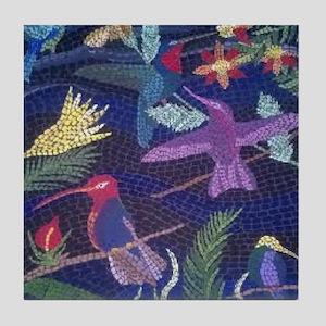 Hummingbird Mosaic Tile Coaster
