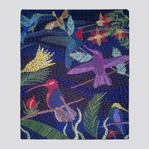 Hummingbird Mosaic Throw Blanket