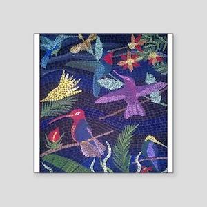 Hummingbird Mosaic Sticker