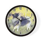 Keeshond in Aspen Wall Clock