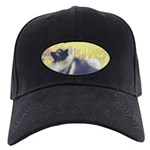 Keeshond in Aspen Black Cap with Patch
