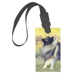 Keeshond in Aspen Large Luggage Tag