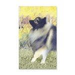 Keeshond in Aspen 35x21 Wall Decal