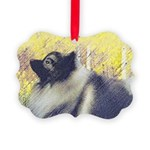 Keeshond in Aspen Picture Ornament