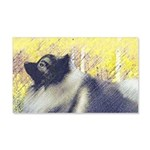 Keeshond in Aspen 20x12 Wall Decal