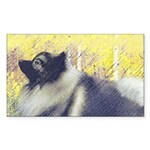 Keeshond in Aspen Sticker (Rectangle 50 pk)