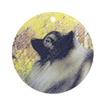 Keeshond in Aspen Round Ornament