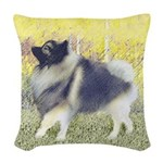 Keeshond in Aspen Woven Throw Pillow