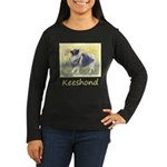 Keeshond in Aspen Women's Long Sleeve Dark T-Shirt