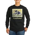 Keeshond in Aspen Long Sleeve Dark T-Shirt