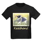 Keeshond in Aspen Kids Dark T-Shirt