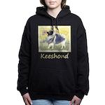 Keeshond in Aspen Women's Hooded Sweatshirt