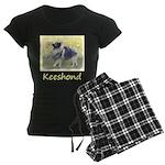 Keeshond in Aspen Women's Dark Pajamas