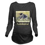 Keeshond in Aspen Long Sleeve Maternity T-Shirt