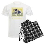 Keeshond in Aspen Men's Light Pajamas