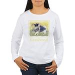 Keeshond in Aspen Women's Long Sleeve T-Shirt