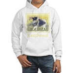 Keeshond in Aspen Hooded Sweatshirt