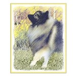 Keeshond in Aspen Small Poster