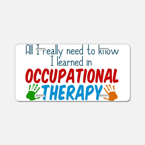 Occupational Therapy Aluminum License Plate