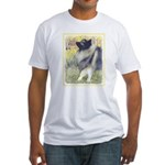 Keeshond in Aspen Fitted T-Shirt