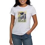 Keeshond in Aspen Women's Classic White T-Shirt