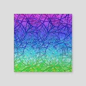 """Grunge Art 1 Square Sticker 3"""" x 3"""""""