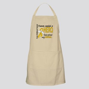 Childhood Cancer HeavenNeededHero1 Apron