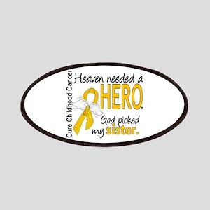 Childhood Cancer HeavenNeededHero1 Patches