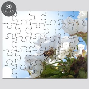Honey Bee on Cherry Blossoms Puzzle