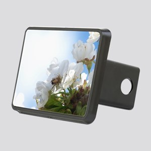 Honey Bee on Cherry Blosso Rectangular Hitch Cover