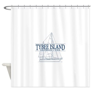 Tybee Island Lighthouse Shower Curtains