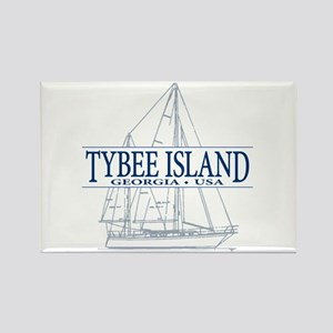 Tybee Island - Rectangle Magnet