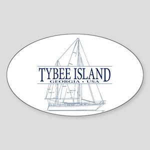 Tybee Island - Sticker (Oval)
