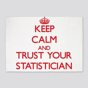 Keep Calm and trust your Statistician 5'x7'Area Ru