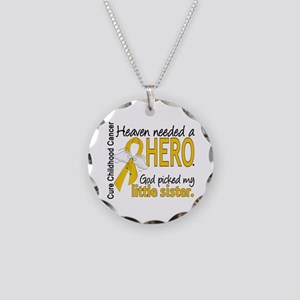 Childhood Cancer HeavenNeede Necklace Circle Charm
