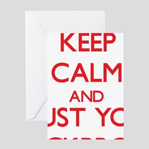 Keep Calm and trust your Stockbroker Greeting Card