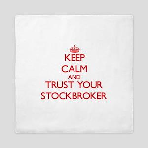 Keep Calm and trust your Stockbroker Queen Duvet