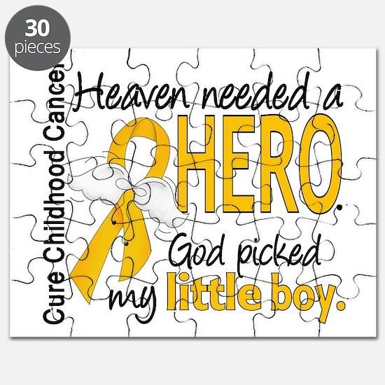 Childhood Cancer HeavenNeededHero1 Puzzle