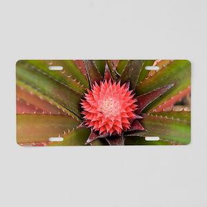 pink pineapple Aluminum License Plate