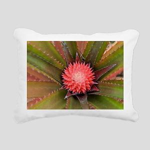 pink pineapple Rectangular Canvas Pillow